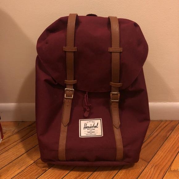 3408efc227a Herschel Supply Company Handbags - Herschel Supply Burgundy Retreat Backpack